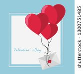 happy valentines day card | Shutterstock .eps vector #1300751485