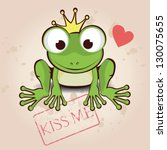 Love Card With Cute Little Frog