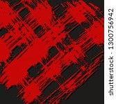 red brush strokes  dirty.... | Shutterstock .eps vector #1300756942
