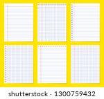 set of various blank empty... | Shutterstock .eps vector #1300759432