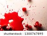 closeup view of grain red... | Shutterstock . vector #1300767895