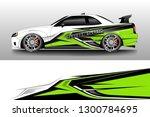 racing car decal wrap vector... | Shutterstock .eps vector #1300784695