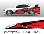 racing car decal wrap vector... | Shutterstock .eps vector #1300784698