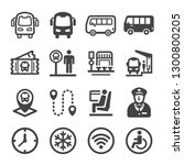 bus icon set vector and... | Shutterstock .eps vector #1300800205