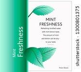 fresh green mint leaves on... | Shutterstock .eps vector #1300801375