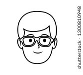 young man head with glasses... | Shutterstock .eps vector #1300810948