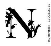 capital letter n. capital... | Shutterstock .eps vector #1300816792