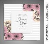 wedding invitation. beautiful... | Shutterstock .eps vector #1300832488