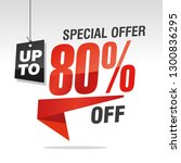 80 percent off special offer... | Shutterstock .eps vector #1300836295