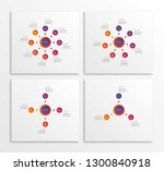 set of infographic templates... | Shutterstock .eps vector #1300840918