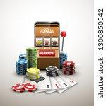 big win illustration online...   Shutterstock .eps vector #1300850542