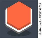 hexagon button isometric icon....