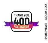 400 followers number with color ...   Shutterstock .eps vector #1300857655