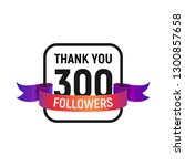 300 followers number with color ...   Shutterstock .eps vector #1300857658
