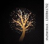 abstract golden tree sparkle | Shutterstock .eps vector #1300861702