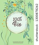 vector organic labels  bio... | Shutterstock .eps vector #1300878262