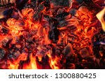 Glowing Embers In Hot Red Color ...
