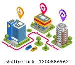 isometric the way work shop... | Shutterstock .eps vector #1300886962