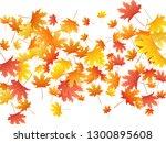 maple leaves vector background  ... | Shutterstock .eps vector #1300895608