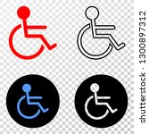 wheelchair person eps vector... | Shutterstock .eps vector #1300897312