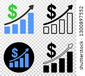 profit up trend chart eps... | Shutterstock .eps vector #1300897552