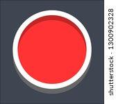 round button isometric icon....