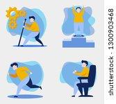 editable human motion vector... | Shutterstock .eps vector #1300903468