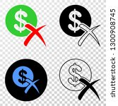 forbidden dollar eps vector... | Shutterstock .eps vector #1300908745