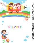llustration of cartoon... | Shutterstock .eps vector #1300964698