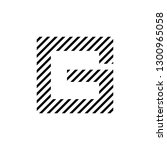 g logo vector minimalist design ...   Shutterstock .eps vector #1300965058