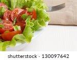 fresh light salad with cherry...
