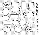 set of comic speech bubbles.... | Shutterstock .eps vector #1300994965