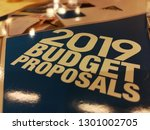 2019 budget proposals text on... | Shutterstock . vector #1301002705