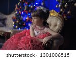 young princess in a smart pink... | Shutterstock . vector #1301006515
