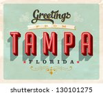 vintage touristic greeting card ... | Shutterstock .eps vector #130101275