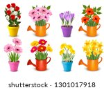 big collection of spring and... | Shutterstock .eps vector #1301017918