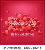 valentines day on red... | Shutterstock .eps vector #1301018245