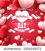 happy valentines day background | Shutterstock .eps vector #1301018272