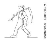 continuous line illustration of ... | Shutterstock .eps vector #1301048275