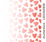 cute background with hearts.... | Shutterstock .eps vector #1301065858