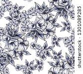 flower print. elegance seamless ... | Shutterstock . vector #1301089285