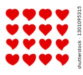 heart icon flat vector... | Shutterstock .eps vector #1301095315