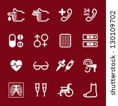 Medical Icons with Red Background : NO.4 - stock vector