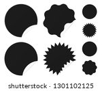 set of sale stickers with... | Shutterstock .eps vector #1301102125
