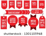 set ribbon banner and label... | Shutterstock .eps vector #1301105968