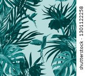 seamless pattern with... | Shutterstock . vector #1301122258