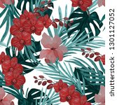 watercolor seamless pattern... | Shutterstock . vector #1301127052