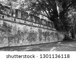 the ancient wall of 185 years... | Shutterstock . vector #1301136118