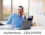 40 years old middle aged... | Shutterstock . vector #1301145505
