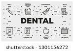 dental line icon set